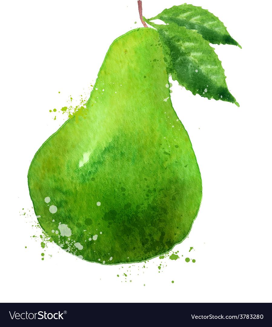 Pear logo design template fruit or food vector