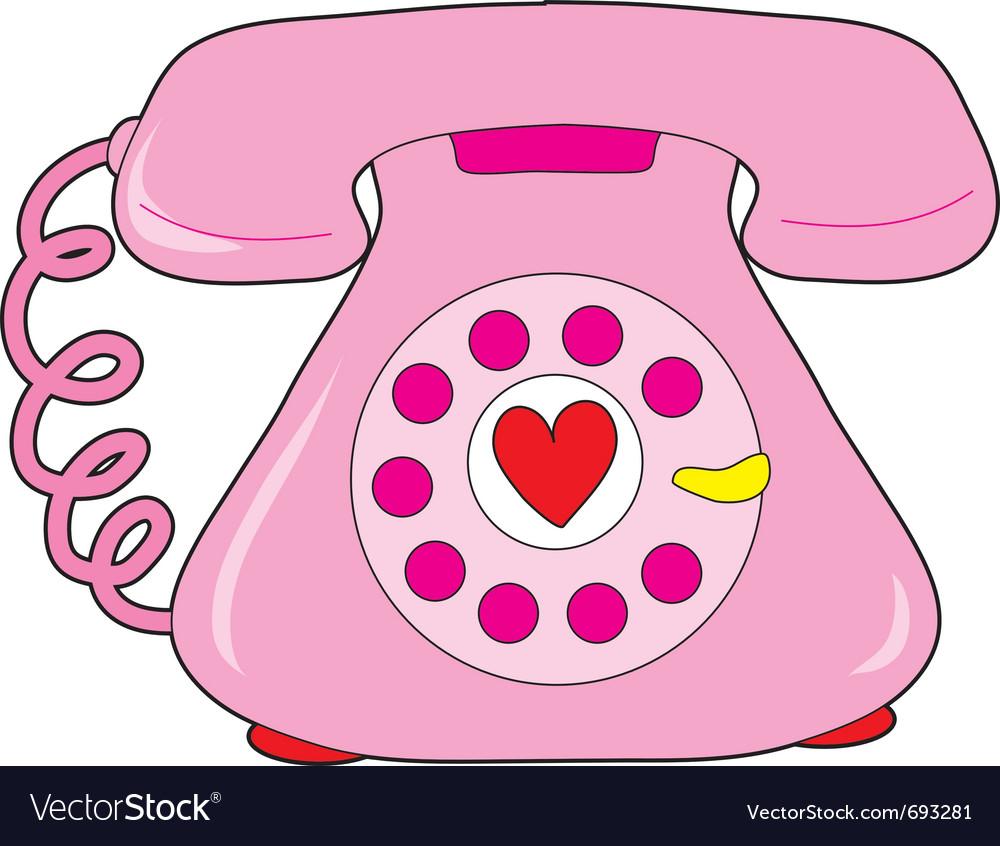 Heart telephone vector