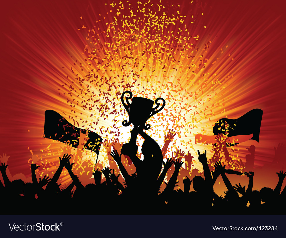 Cheering crowd vector
