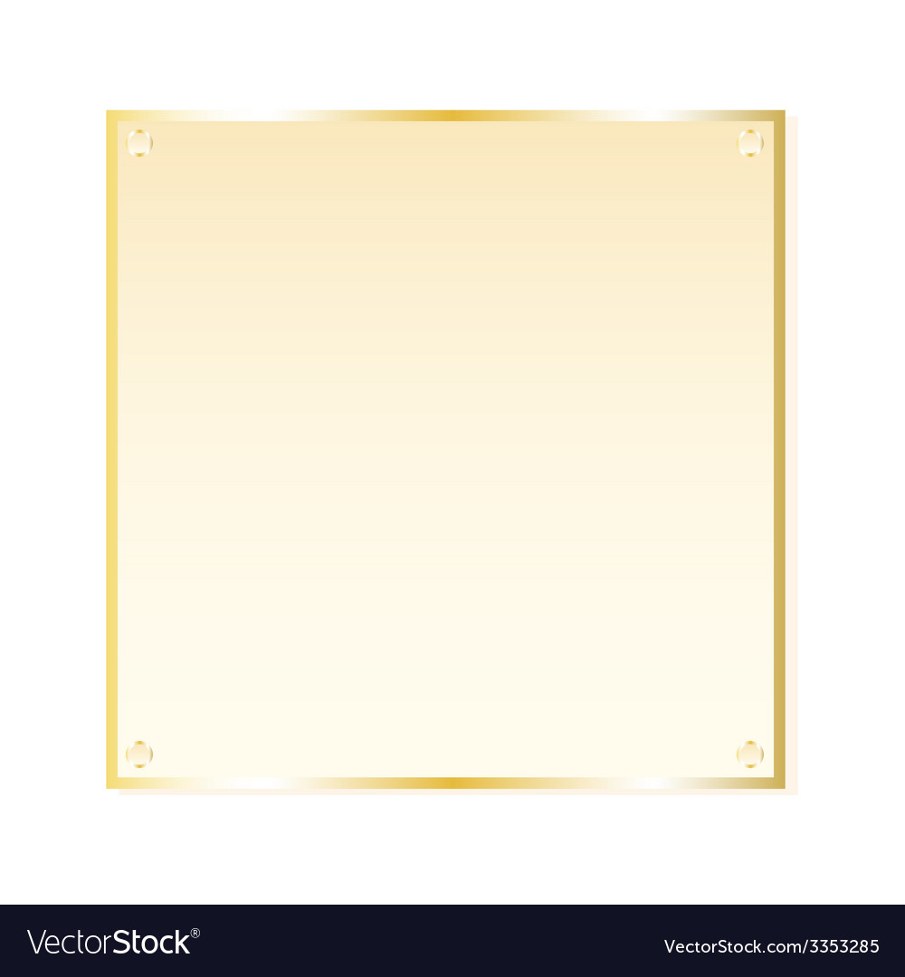 Gold sticker isolated object vector