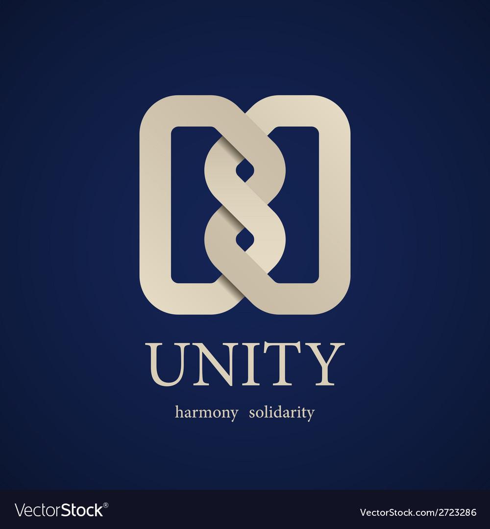 Unity knot symbol design template vector