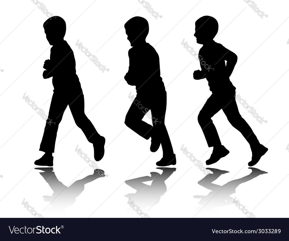 Boy running vector