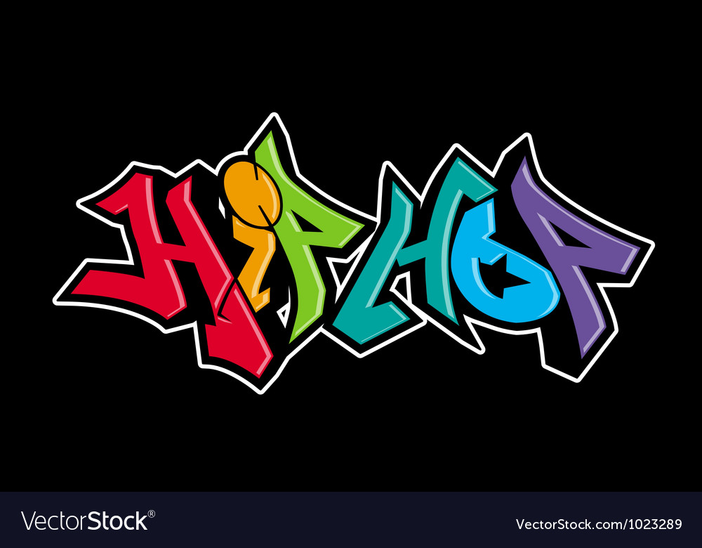 Graffiti urban art design vector