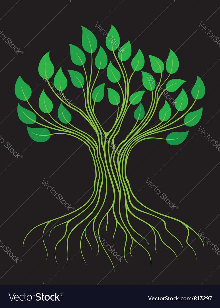 Green stylized tree vector