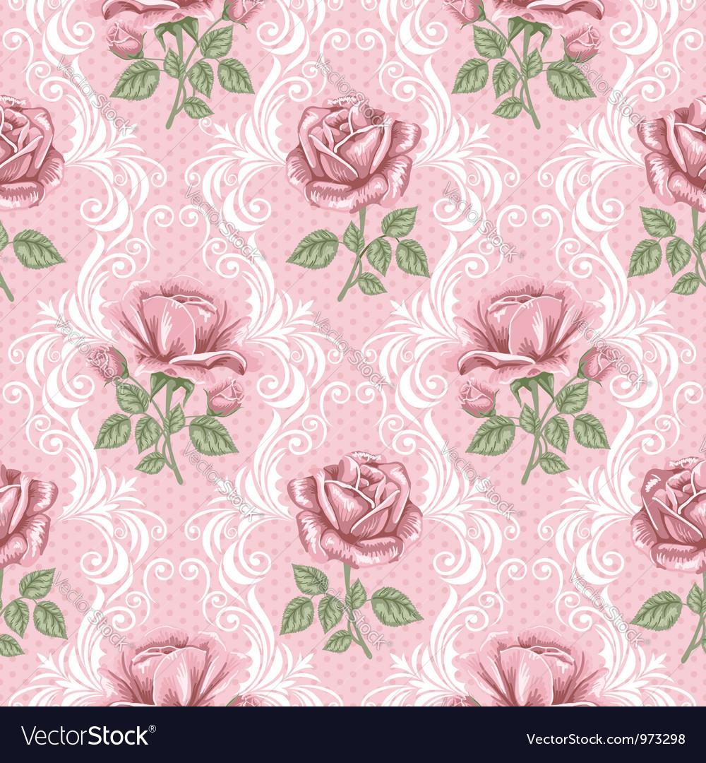 Rose wallpaper vector