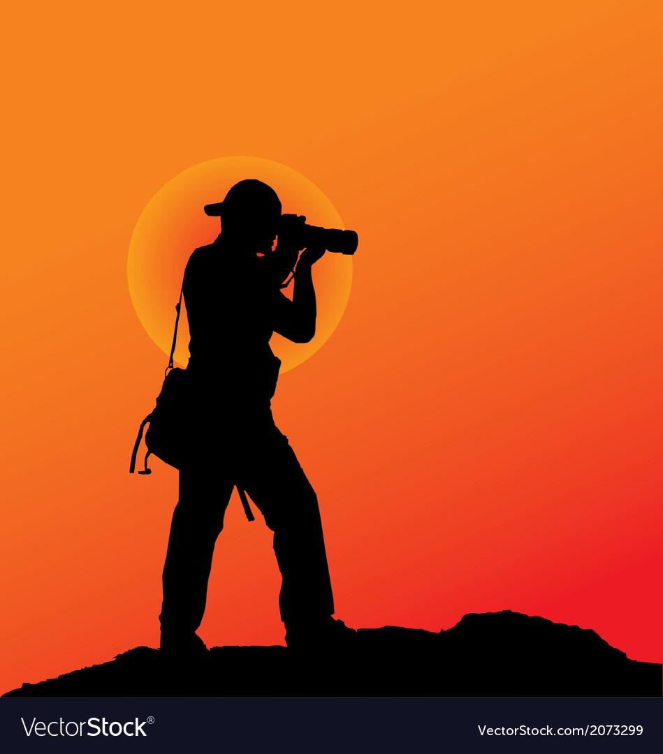 Photographer silhouette vector