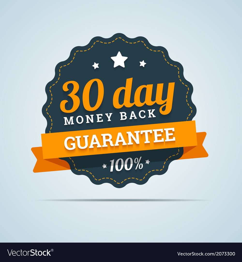 30 day money back badge vector