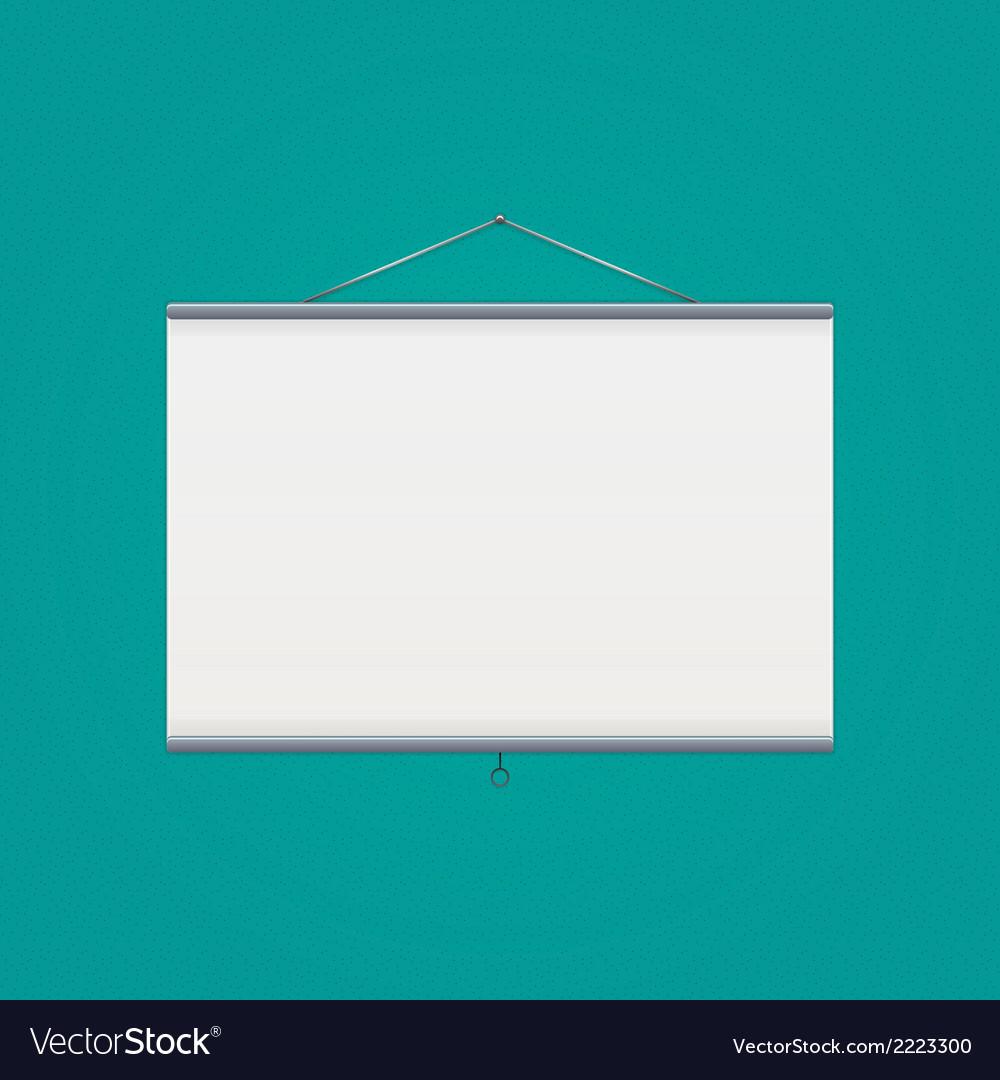 Projector screen over green vector