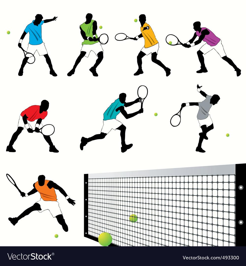 Tennis set03 vector