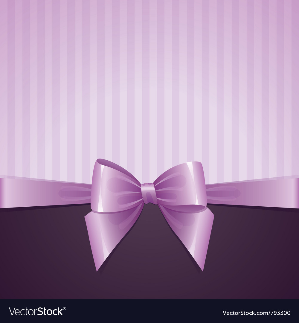 Violet background with bow vector