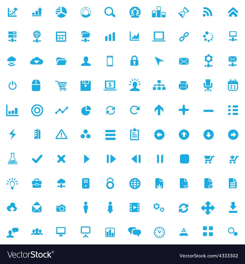 100 development soft icons vector