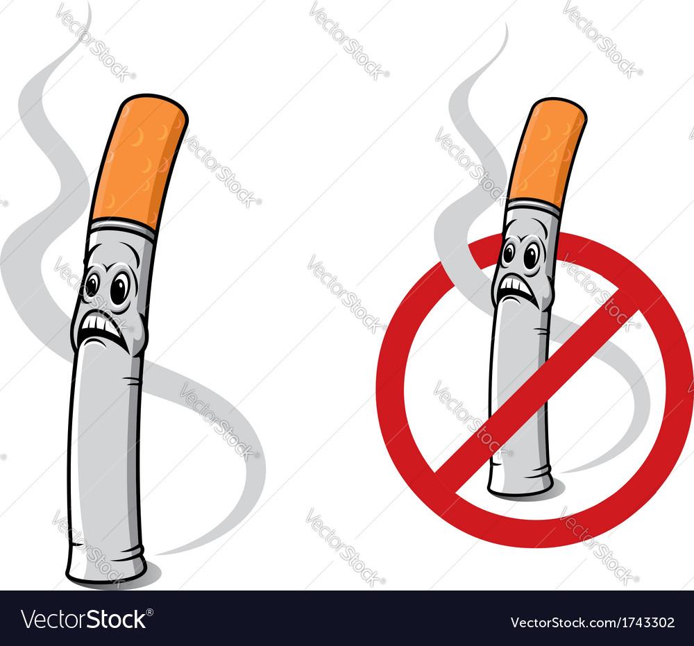Cartoon cigarette vector