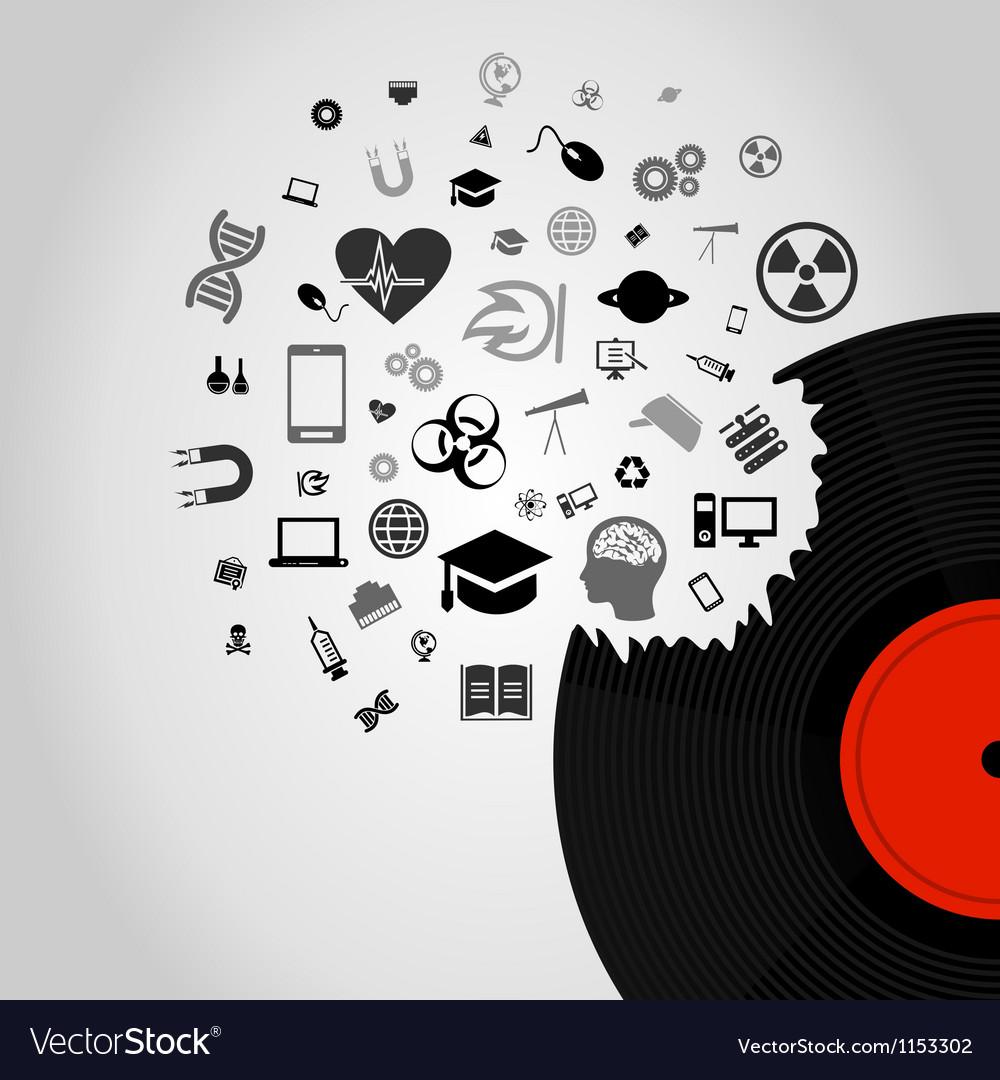 Science vinyl vector