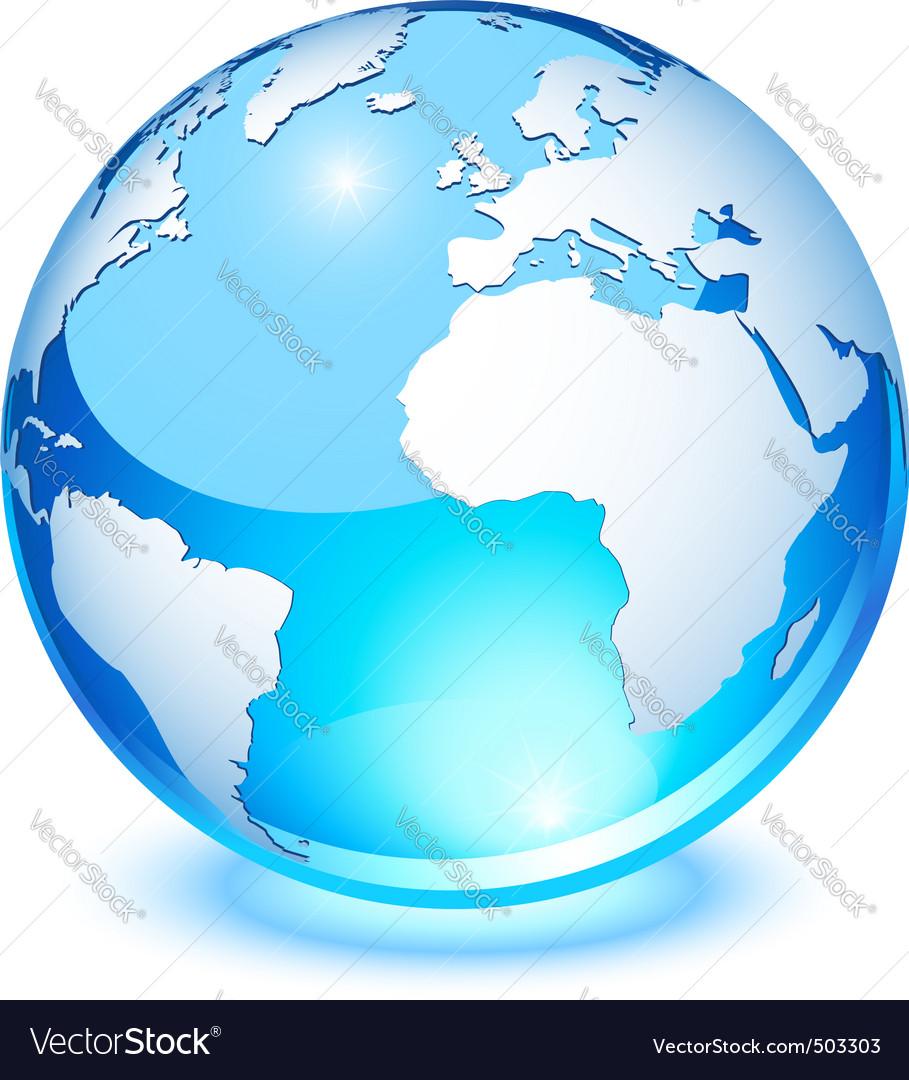 Crystal earth vector