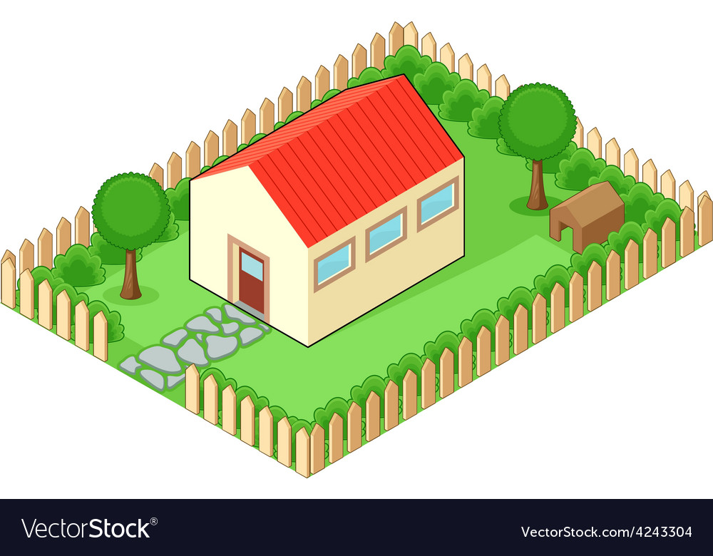 Isolated house vector