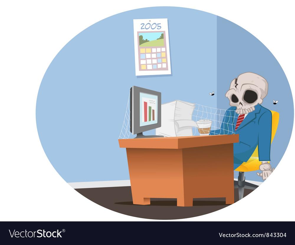 Office employee skeleton vector