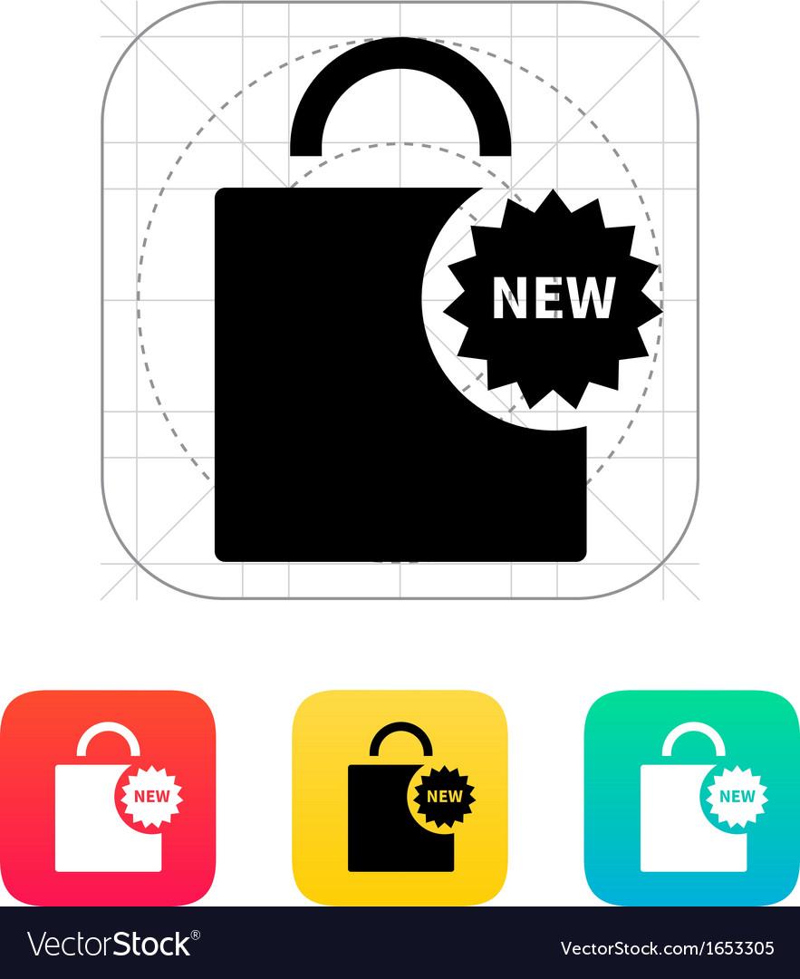 New shopping bag icon vector