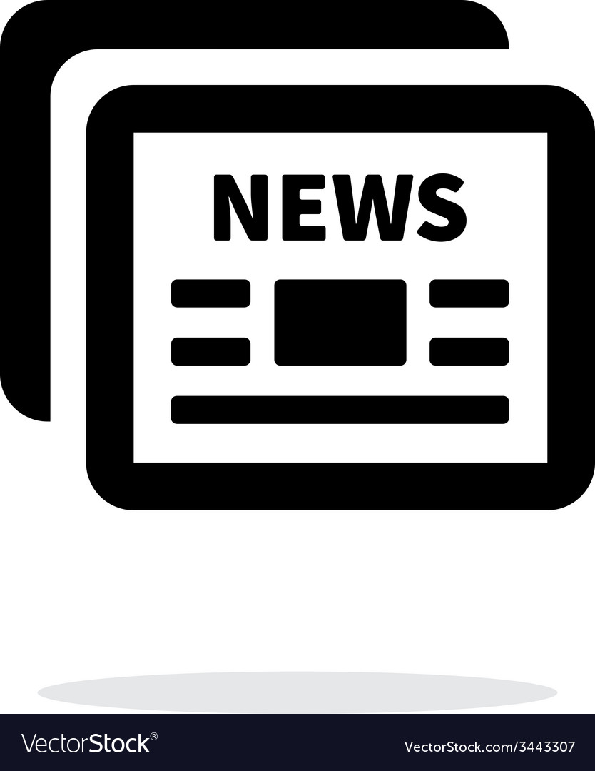 Newspapers icon on white background vector
