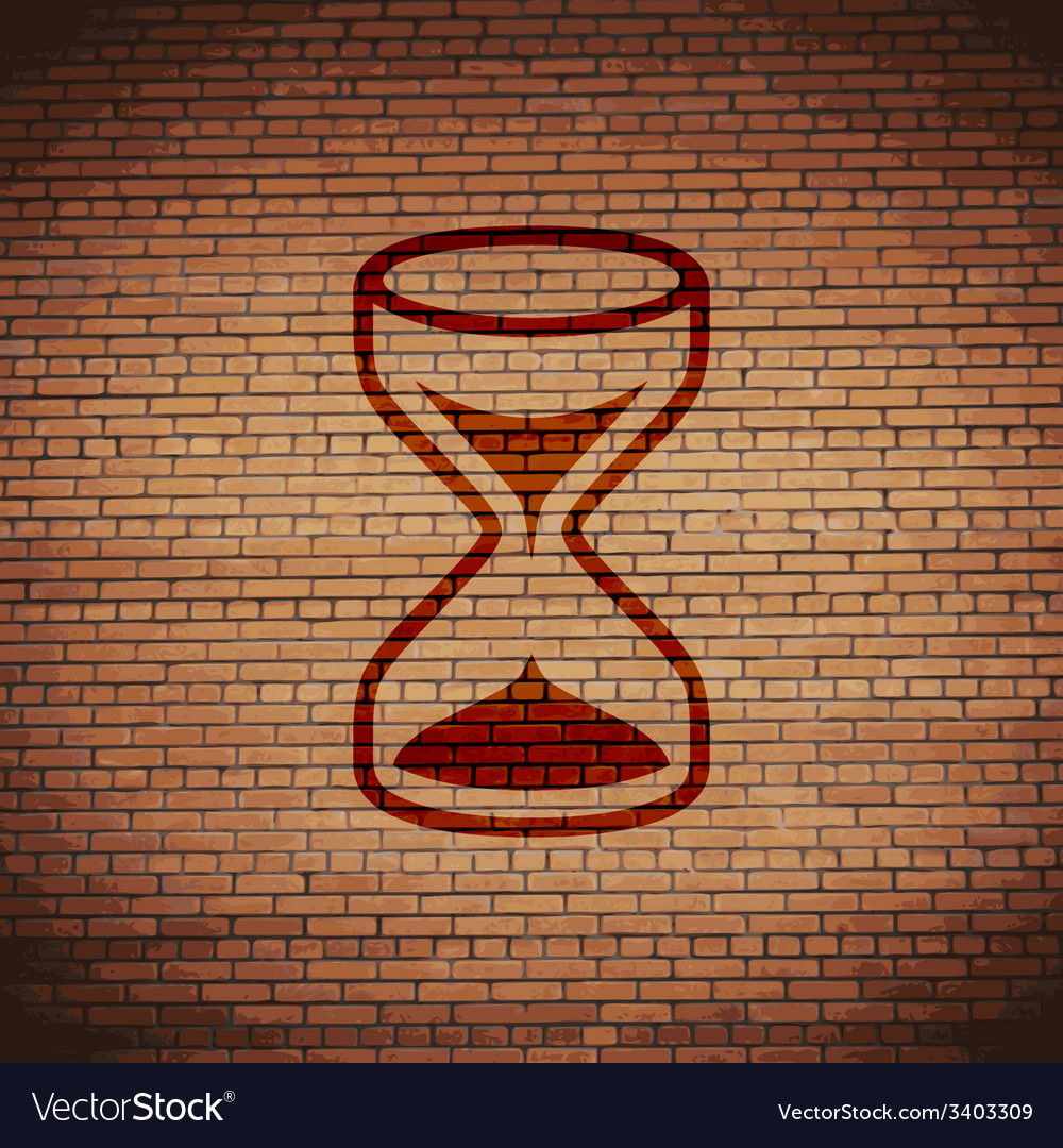Hourglass icon symbol flat modern web design with vector