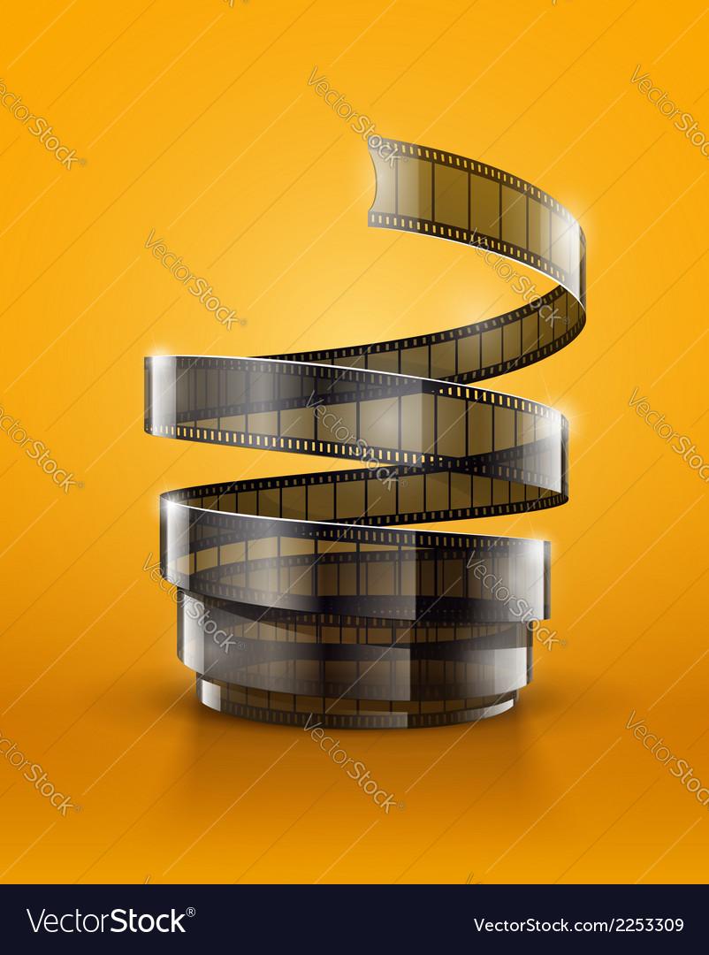 Spiral of cinematography film vector
