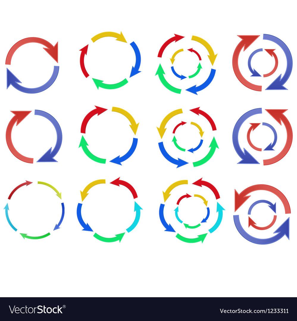 335 color arrow circle vector