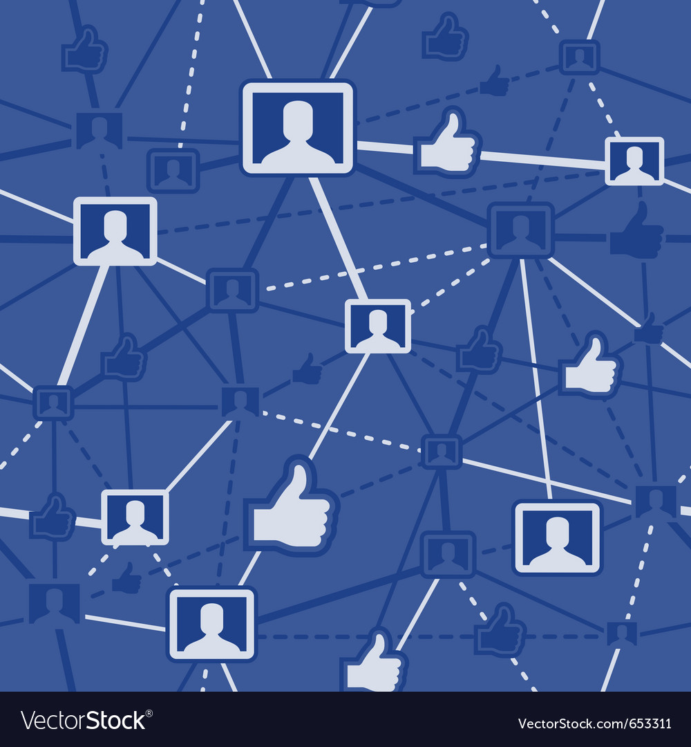 Seamless social networking vector