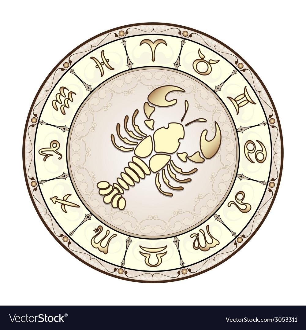 Zodiac signs vector