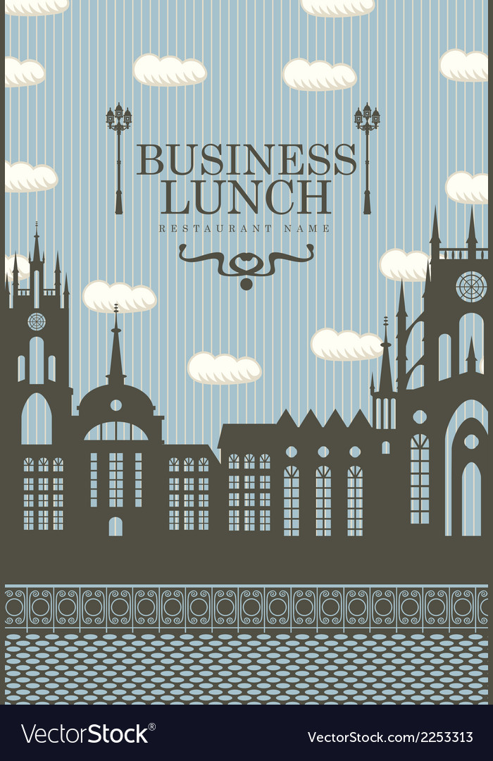 Business lunch town vector