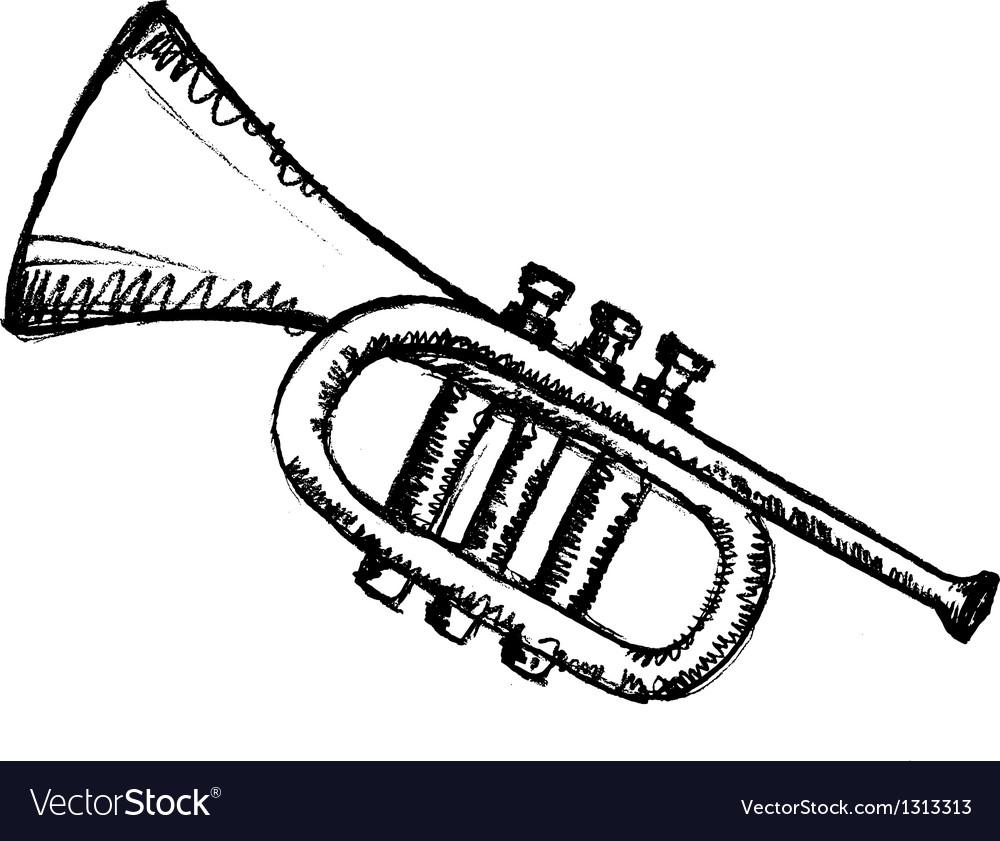 Horn musical instrument vector