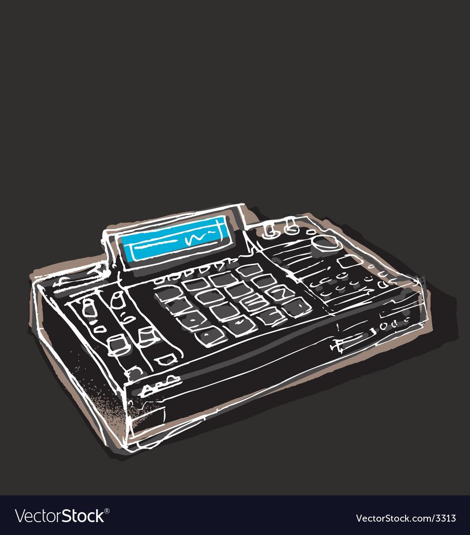 Mpc drum machine vector