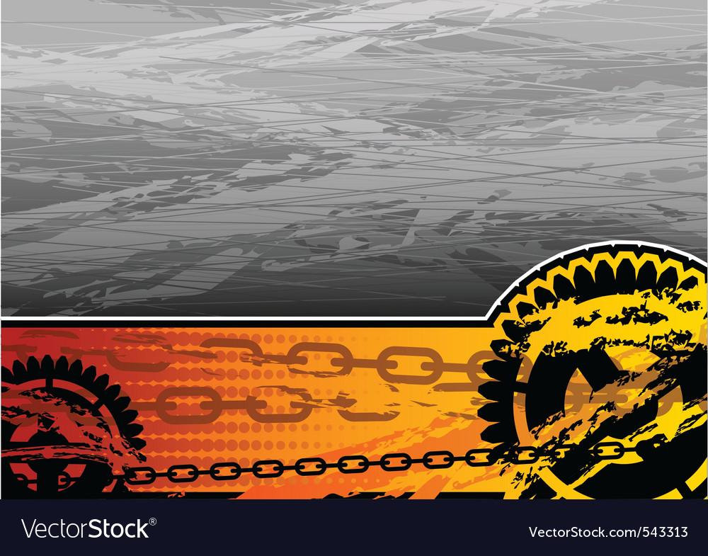 Orange and grey industrial background vector