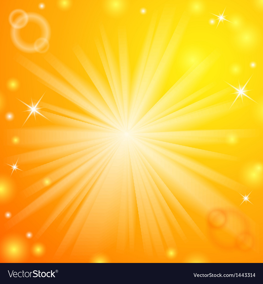 Abstract magic light orange background vector
