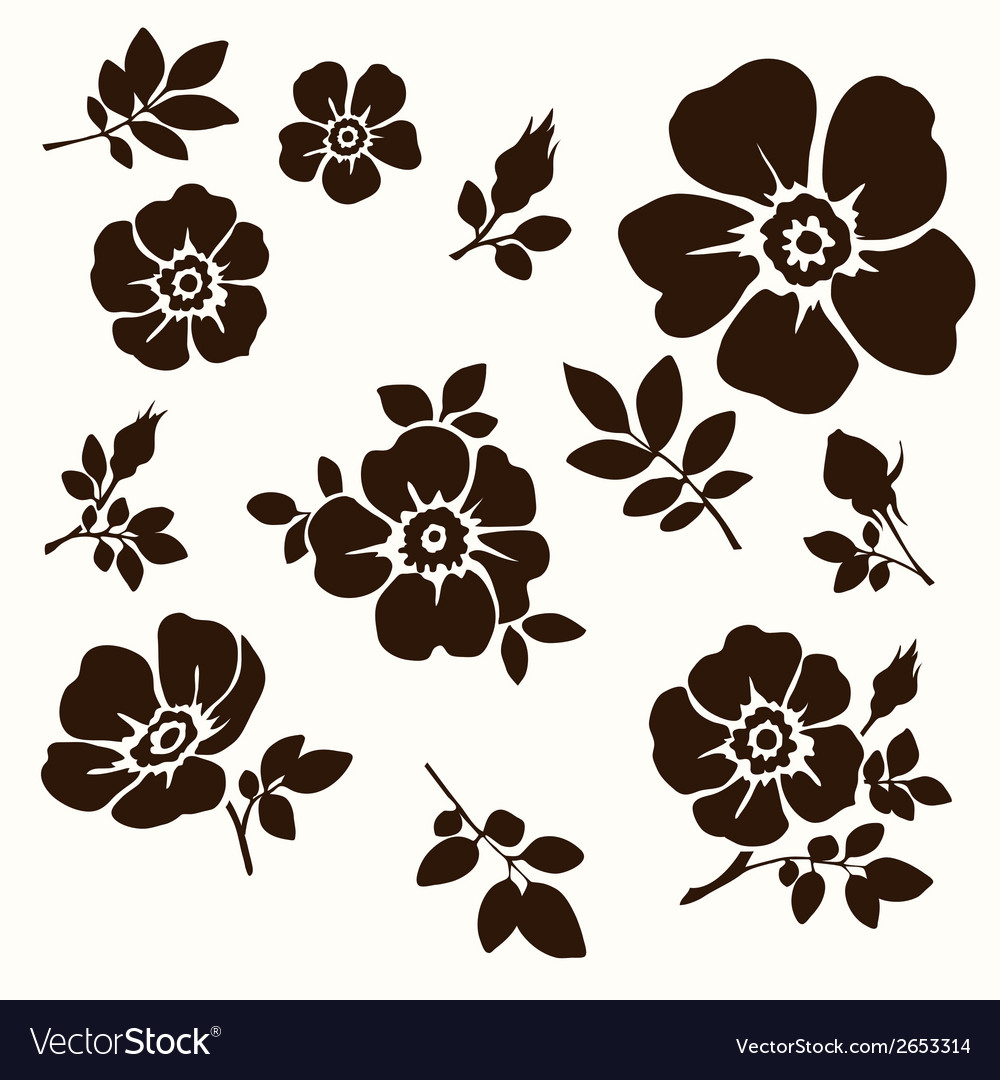 Flower decorative vector
