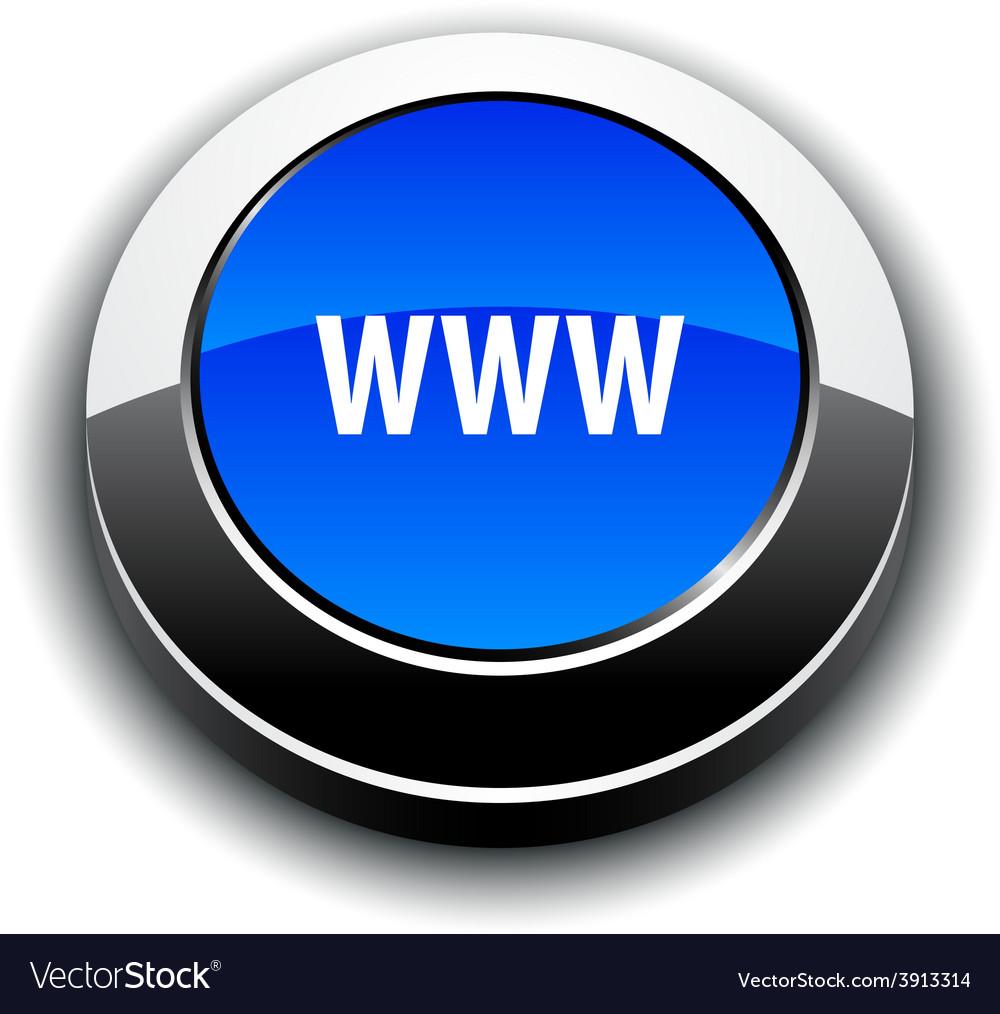 Www 3d round button vector