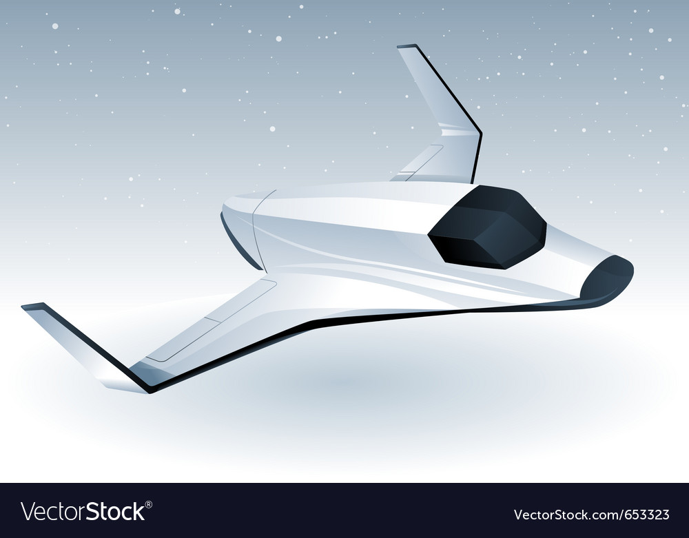 Futuristic space shuttle vector