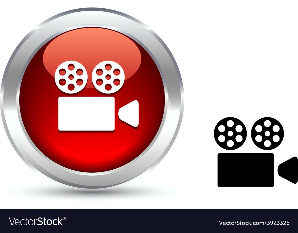 Cinema button vector