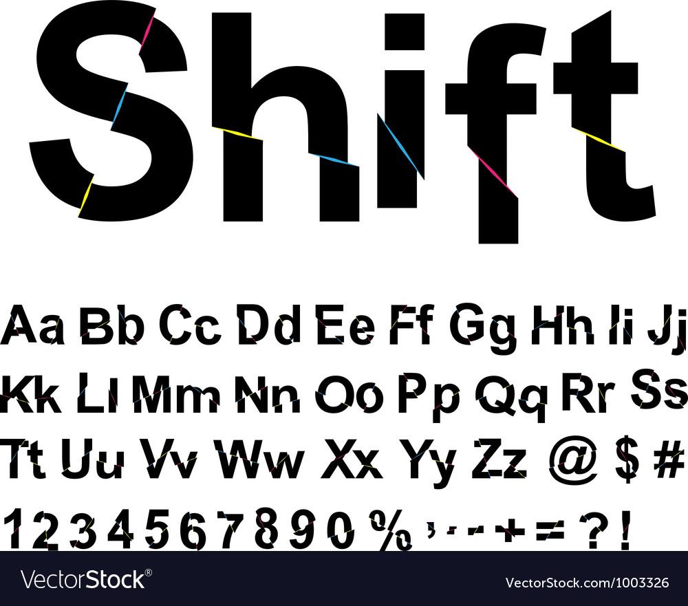 Abstract shift font vector
