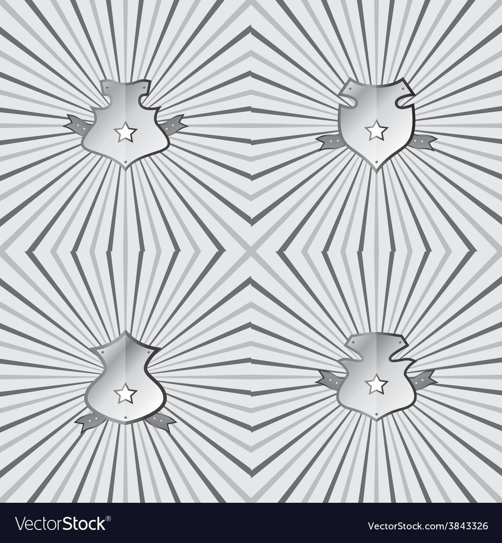 Insignia shield product label art vector