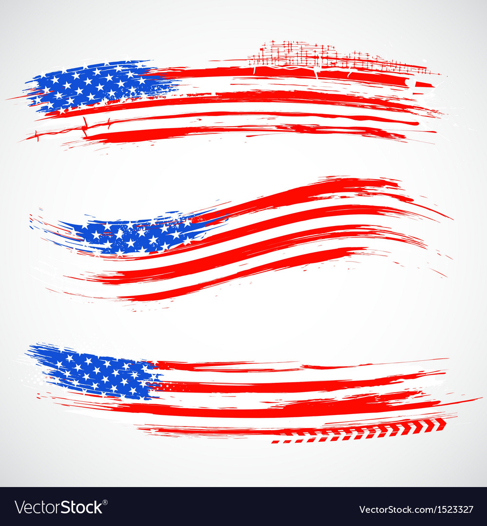 Grungy american flag banner vector