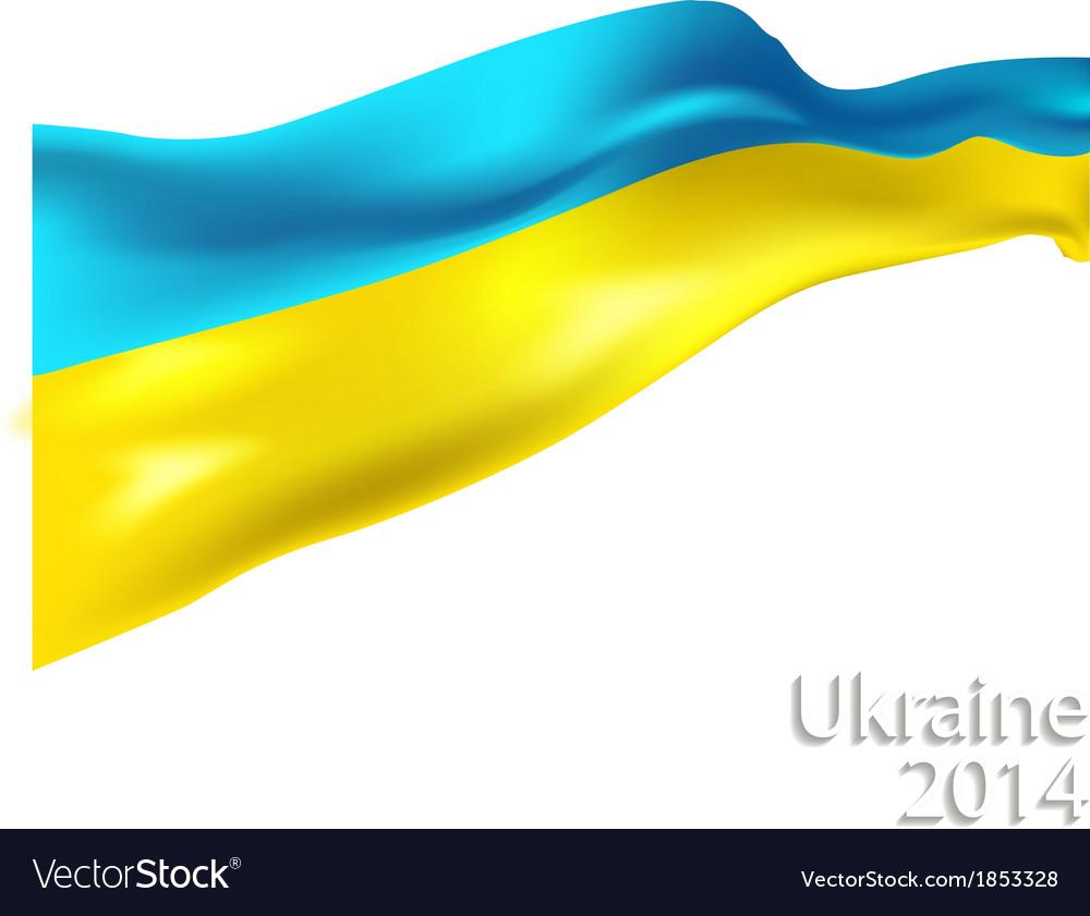 Ukrainian flag vector