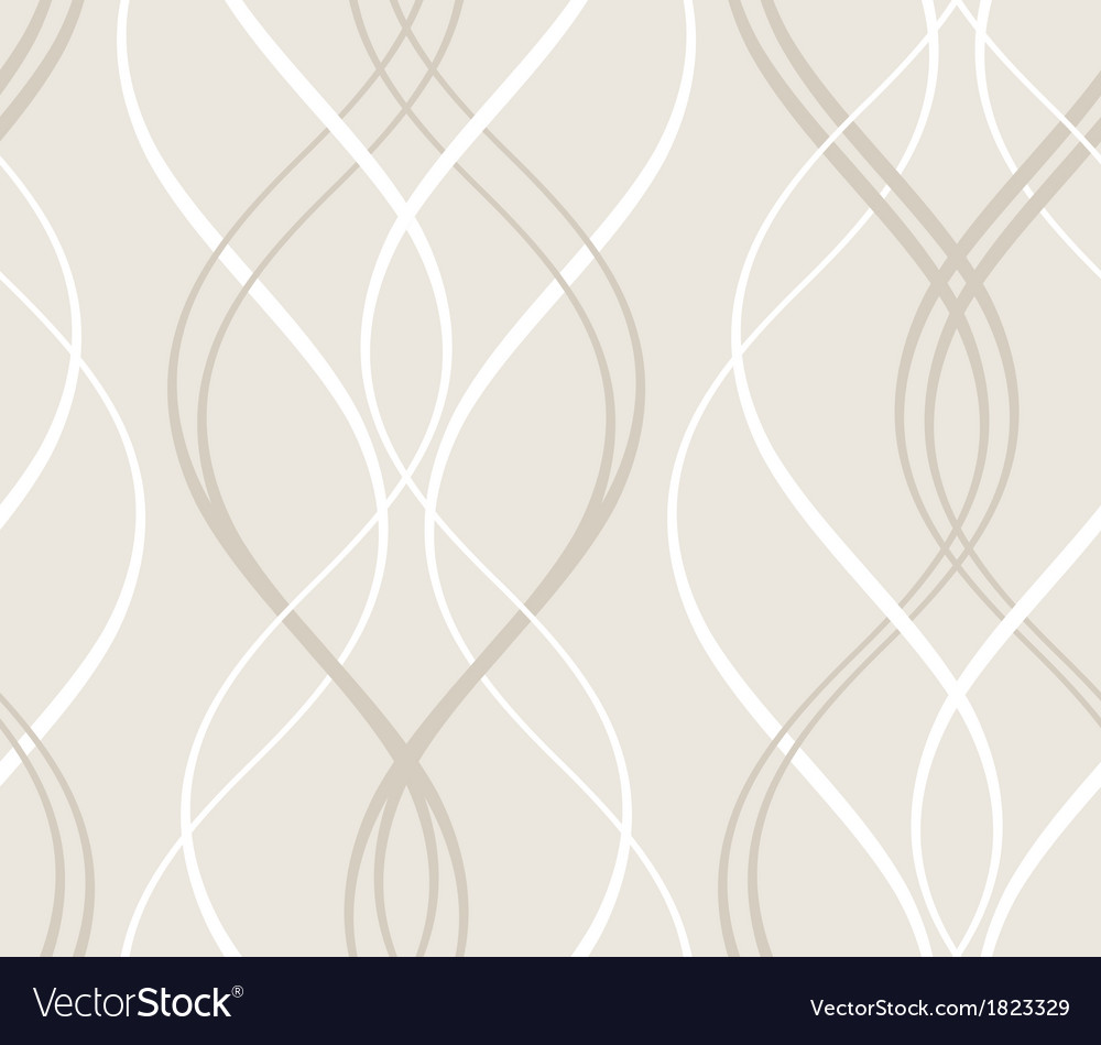 Abstract seamless geometric pattern with wavy line vector