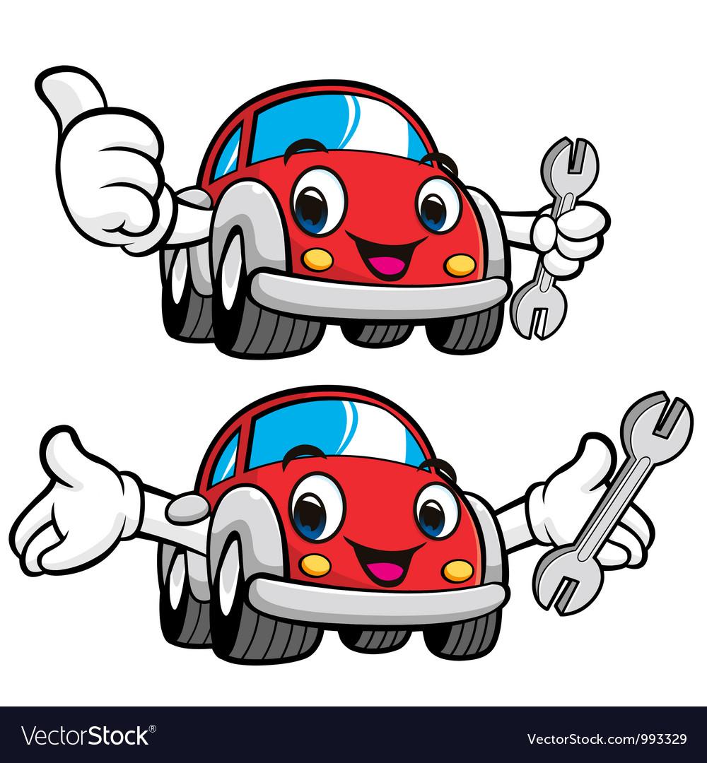 The best mechanic car character vector