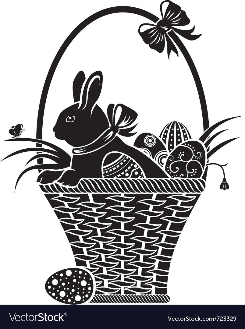 Easter woodcut vector