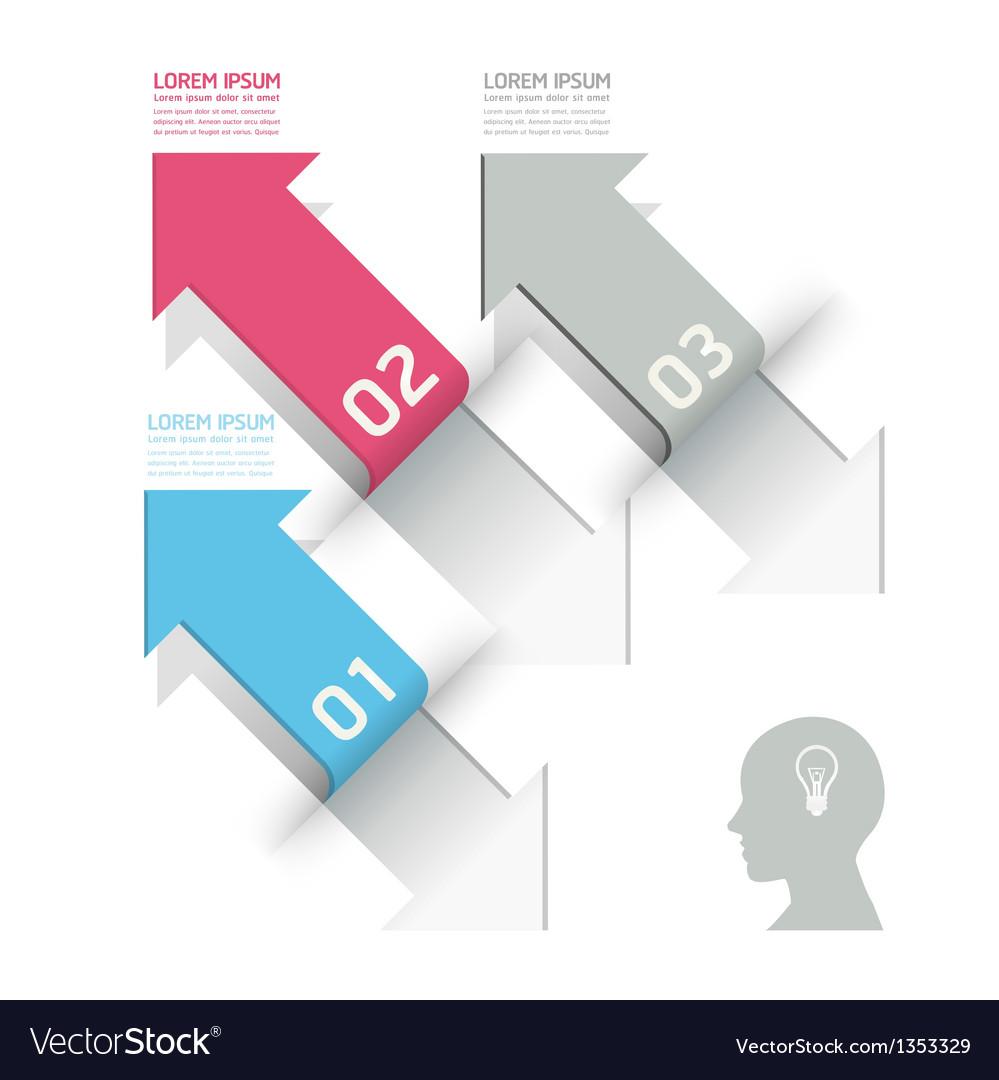 Modern design template used for number banner vector