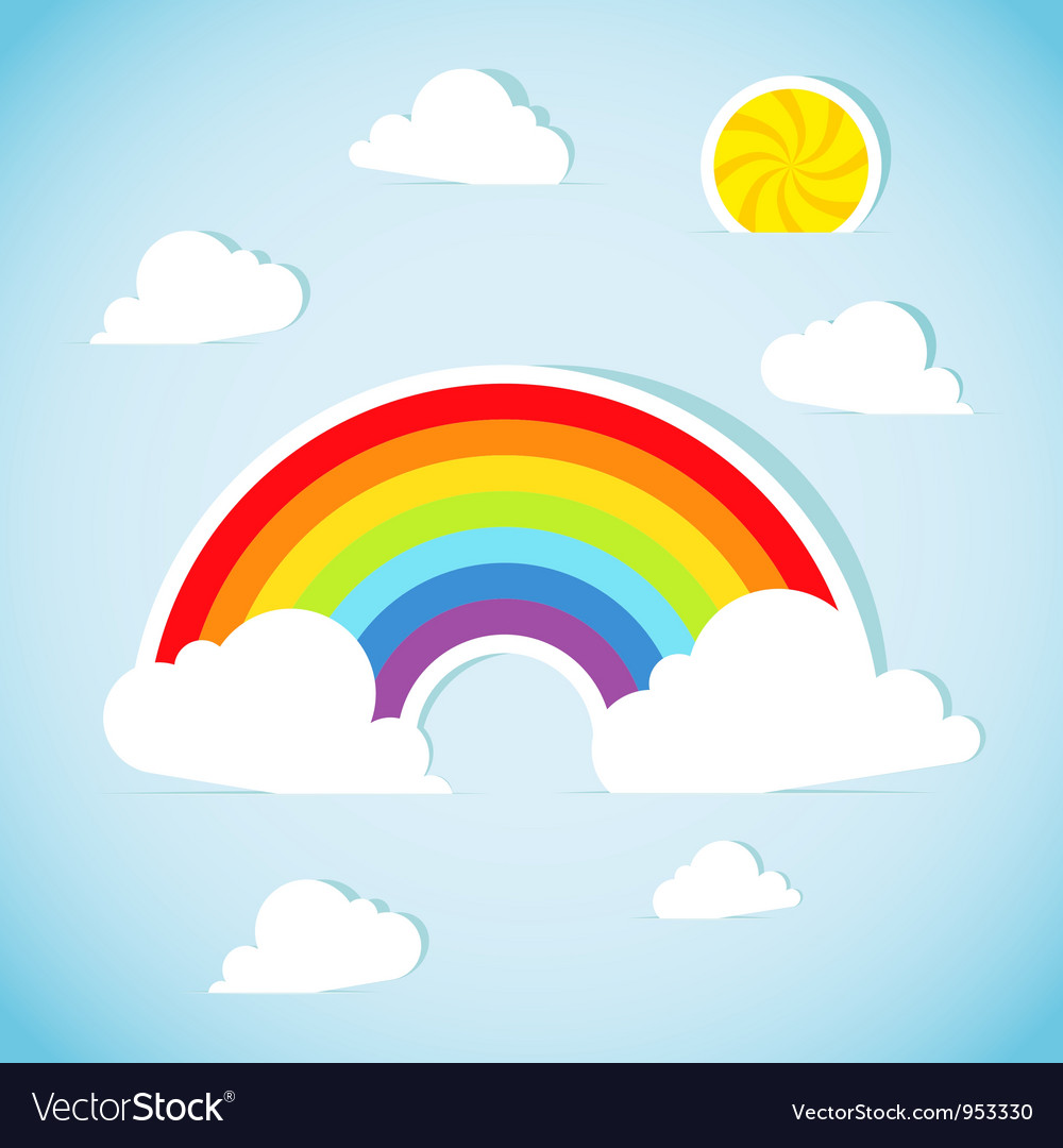 Abstract paper rainbow vector