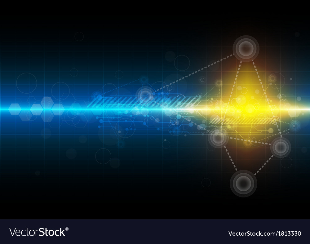 Science technology background vector