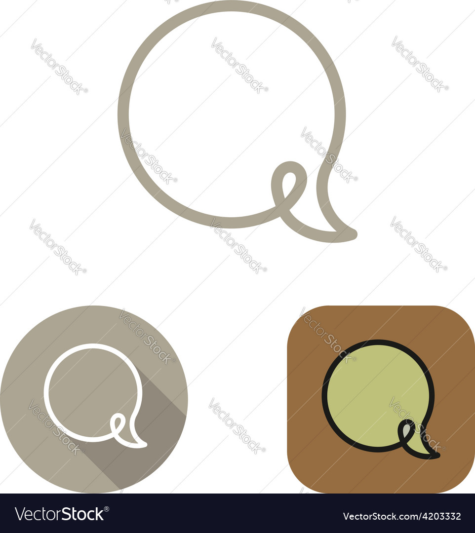 Contour social network babble icon and stickers vector