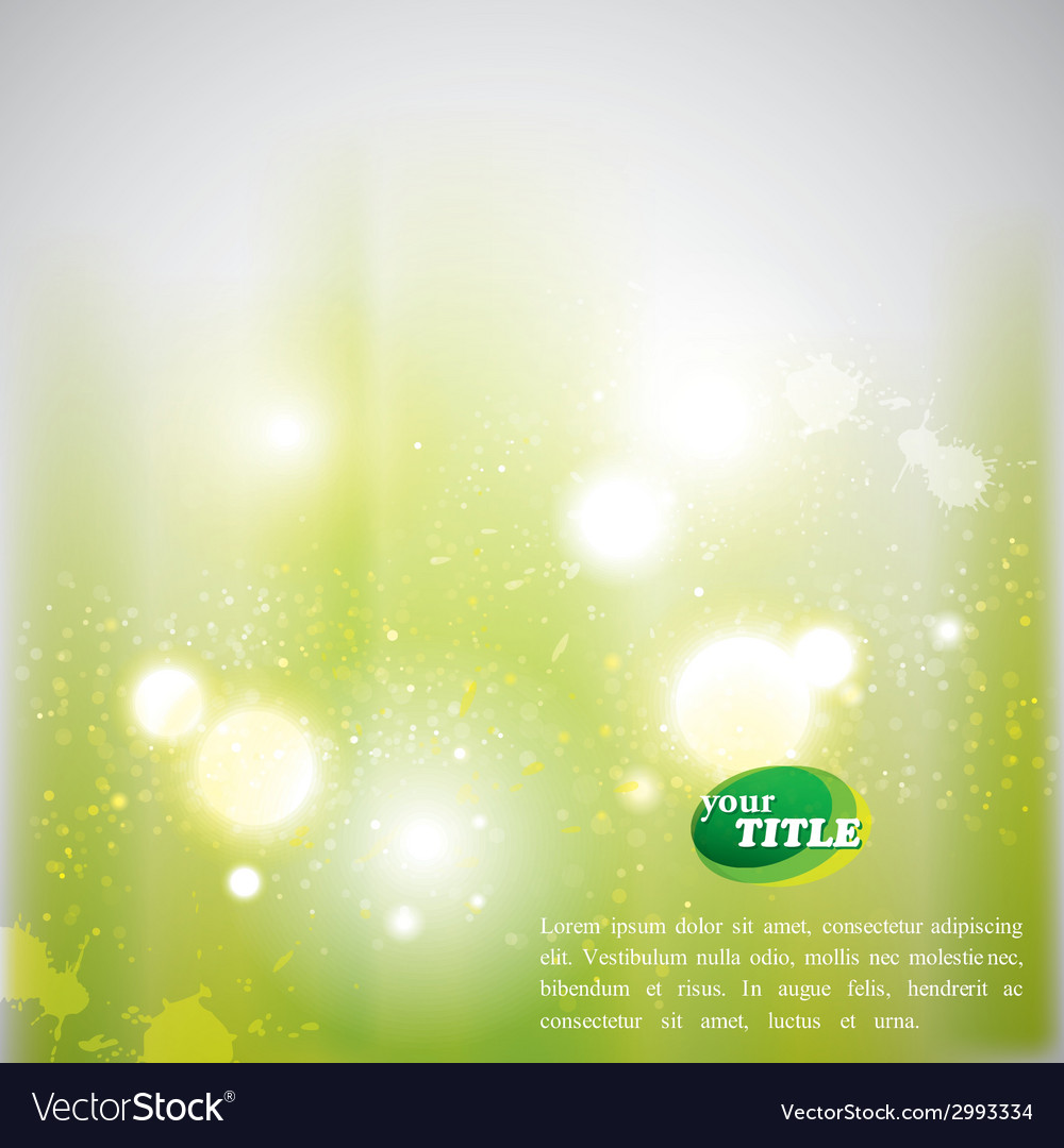 Abstract green background with shiny sparkles vector
