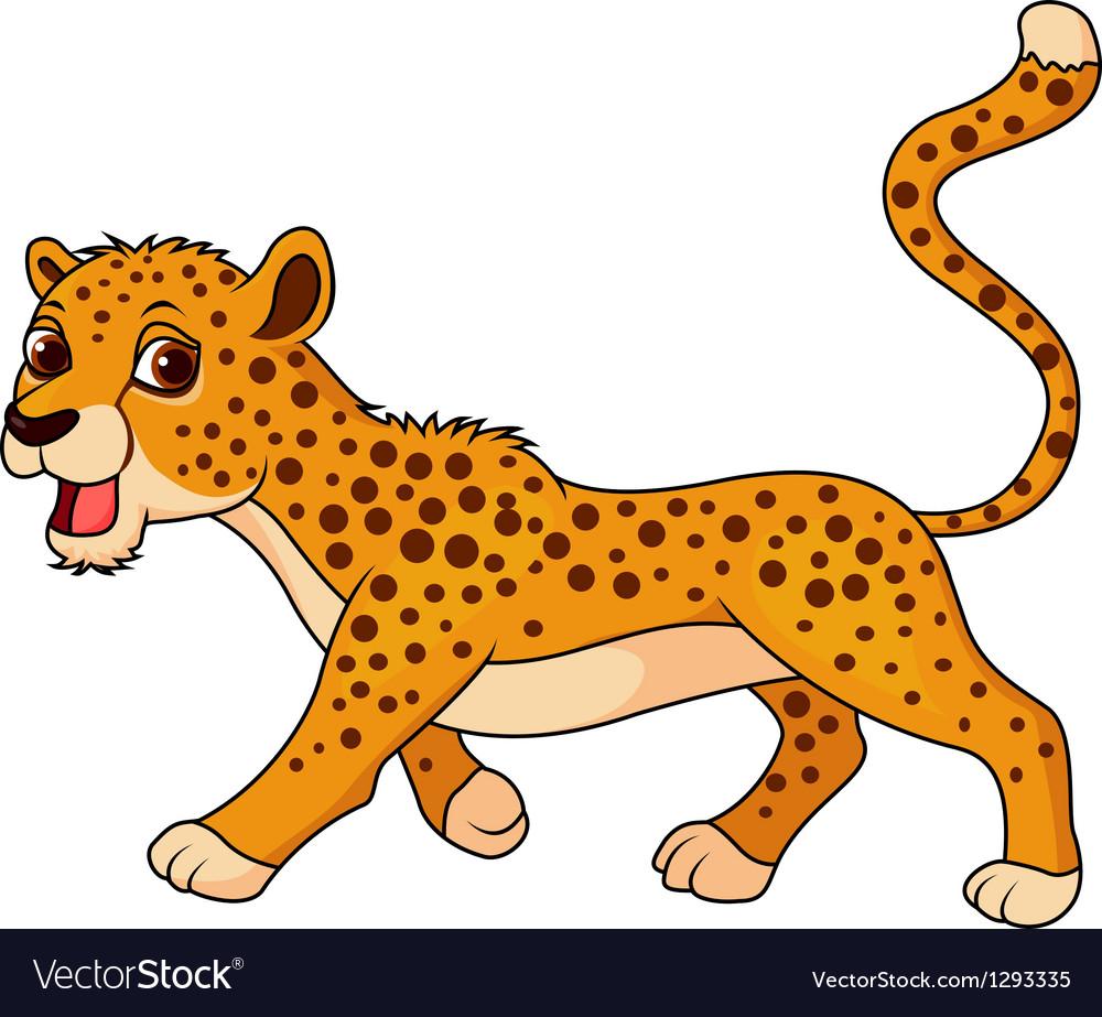 Cute cheetah cartoon vector