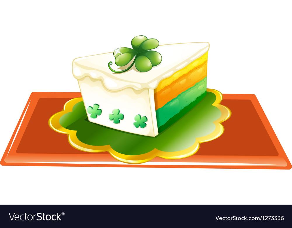 A slice of cake for the celebration of st patricks vector